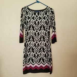 Lucy & Laurel Long Sleeve Fitted Stretchy Dress